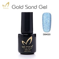 Wholesale Sand Effect - Wholesale- MONASI Gold Sand Gel Nail Polish Matte Blue Matt Effect Long Lasting Cheese Gel Varnishes Nail Lacquer vernis semi permanent