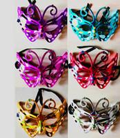 Wholesale Half Face Sex Mask - Face dance meeting adult beauty butterfly half face sex kindergarten Halloween mask children's Halloween costumes - Free Shipping