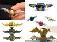 Wholesale Copper Fingers - 2017 New Hand Spinner Harry Potter Golden Snitch Fidget Spinner EDC Toys Copper+Stainless Steel Decompression Finger Gyro Toys CE Compliant