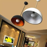 Wholesale Industry Battery - NEW Arrivals Affordable! Industry Restaurant Bar Warehouse Retro Iron Pendant Lights Black White ON SALE Portable Lanterns