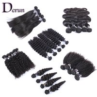 Wholesale fast texture - Wholesale Bundles Deal 6 Different Styles Brazilian Indian Malaysian Peruvian 9pcs 18pcs 30pcs Natural Black Fast Free Shipping!!!