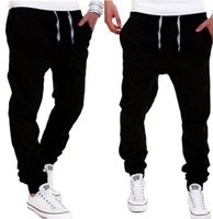 Wholesale Wholesale Plus Size Pants - Wholesale-Free Shipping Plus Size Men's Clothing Pants Cotton Fashion joggers Men Casual Pants Black Khaki pants trousers spring autumn
