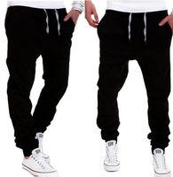 Wholesale Wholesale Black Pants - Wholesale-Free Shipping Plus Size Men's Clothing Pants Cotton Fashion joggers Men Casual Pants Black Khaki pants trousers spring autumn