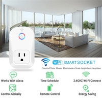 Wholesale Remote Electrical - Smart Wifi Power Plug Smart Home Electronic Socket Automation works with Household Electrical Phone Remote CE ROHS FCC Support Alexa