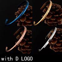 ingrosso w bracciale-Bracciale D - W di alta qualità Bracciale Bracciale in oro rosa e argento Bracciale in acciaio 100% Bracciale donna e uomo pulsera