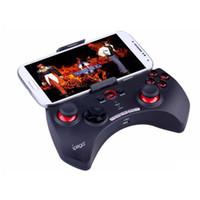controlador de juegos bluetooth ipad al por mayor-Controlador inalámbrico del juego Gamepad de Bluetooth de iPega Joystick para iPhone iPad Teléfonos Android PC con embalaje al por menor