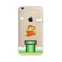Wholesale Super Mario Iphone - Super Mario Shockproof TPU soft Phone Cases For Apple iPhone 6 6S 6Plus 6s plus 7 7Plus