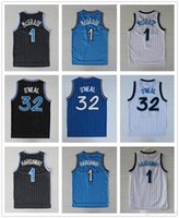 Wholesale Mens Tracy McGrady jersey Shaquille O Neal Shaq Jersey Throwback Stitched Penny Hardaway Jersey Black White Blue Stitched Shi