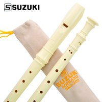 Wholesale Flute Beginners - Wholesale- High-Quality SUZUKI SRG-200 Germany Type 8-Holes Soprano Recorder  Flute Student Beginner Recorder