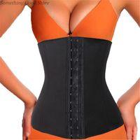 Wholesale Cheap Waist Slimming Corsets - waist trainer waist cincher slimming belt shapewear body shaper corset bodysuit hot Black Beige (cheap but not Latex) #222