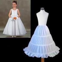 Wholesale White Winter Dresses For Kids - New Crinoline Three Circle Hoop Children Kid Underwear Slip White Ball Gown Wedding Accessories Petticoat for Flower Girl Dress