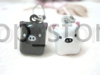 cloche de porc achat en gros de-Livraison gratuite Détails sur Lot Cartoon Lucky Pig Cell Phone Strap JINGLE BELLS Dangle Charms Trendy Gifts trois couleurs.
