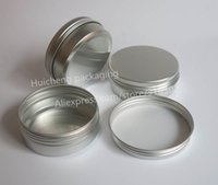 Wholesale Wholesale Glass Powder Container - 100 x 60g aluminum jar, metal jar for cream powder gel use, 2 oz cosmetic bottles, 60ml aluminum container