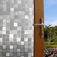 ingrosso decalcomanie da ufficio-7 Styles funlife stampa pellicole per vetri per vetri Adesivi per finestre Senza colla per toilette da bagno e vetro per ufficio Adesivi decorativi