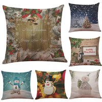 100% Polyester Woven Square Christmas Snowman Pattern Linen Cushion Cover Home Office Sofa Square Pillow & Cheap Christmas Cushion Cover Pattern | Free Shipping Christmas ... pillowsntoast.com