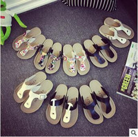 Wholesale Wholesale Flip Flops Buckle - Unisex Beach Flip-flops Summer Sandles Fashion Antiskid Slippers Couple Beach Shoes PU Leather Slippers Casual Cool Slippers CCA5746 30pair