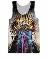 Wholesale Masters Universe Wholesale - Unisex Women Men Skeletor Conquers the Realm Tank Top Cartoon He-Man and the Masters of the Universe Vest tees
