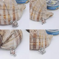 Wholesale Wholesale Turtles For Sale - Hot sale Love Pearl Cages Pendants Necklace Opening Lockets Shells Turtles dolphin butterfly Charms Necklaces For women Fashion Jewelry