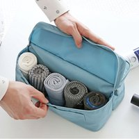 4 Color Travel Storage Bag Handbag Organizador de gaveta Impermeável Poliéster Pano Pendurado Packet Espaço Saving Underware Socks Housekeeping