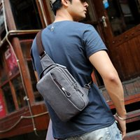 Wholesale Men Canvas Bags Sling - 2017 Summer High Capacity Chest Bag For Men&Female Canvas Sling Bag Casual Crossbody Bag For Short Trip