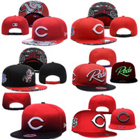 Wholesale Wholesale Sports Logo Hats - Wholesales Cincinnati Reds Baseball Cap Embroidered Team logo Fitted Cap Sport Fit Hats Colorfull Free Shipping