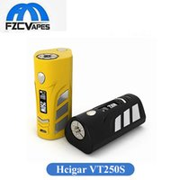 Wholesale Perfect Power - Original Hcigar VT250S 250W Box Mod with Evolve DNA250 Chip Set 2 or 3 18650 Battery Power Vape Mod Perfect Performance