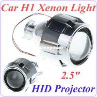 Wholesale Xenon Projector Lens Light - 2.5 inch Mini Car Xenon H1 HID Projector Lens with Shroud for Car Headlight Xenon H1 Light