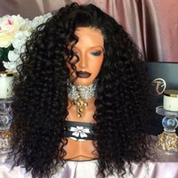 Wholesale Kinky Free Parting Lace Wig - 2017 Hot!Natural Black Free Part Synthetic Wigs Kinky Curly Lace Front Wigs Heat Resistant Fiber Curly Synthetic Lace Front Wig