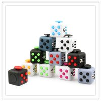 Wholesale Desk For School - 6 Sides Fidget Cube Clicker Anti Irritability Dice Desk Toys For Adults School Prime Children Cheap Fidget Toys Spin Roll Glide In Stock
