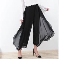 Wholesale Korean Chiffon Pants - Korean formal women's pants high fashion empire waist