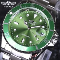 Wholesale Top Waterproof Mechanical Watches - Winner men Watches Top Brand Luxury Men Military Wristwatches Full Steel Men Sports Automatic Watch Waterproof Relogio Masculin