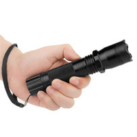 Wholesale Diving Free Shipping - Hot Sale New 1101 Type Edc Linternas Light Cree Led Tactical Flashlight Lanterna Self defense Torch 18650(built-in) Free Shipping