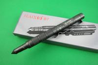 Wholesale Defense Survival Portable Pen - AGKS 2017 Upgraded version LAIX B7 Gray Tactical Defense Survival Portable Survival Pen Camping Tool 6061T6 Aviation Aluminum Freeshipping
