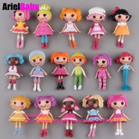 Wholesale Wholesale Lalaloopsy Mini Dolls - New 8PCS Lalaloopsy Toys Action Figure Mini Dolls PlayHouse Baby Girl Kids Birthday Gift 8cm Cake Toppers Mix Type