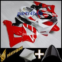 Wholesale Cbr929rr Aftermarket Fairings - ABS Fairing for Honda CBR929RR 00 01 929 2000-2001 00-01 Aftermarket red white Motorcycle Body Kit