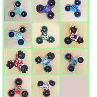 Wholesale Drawing Toys - Colorful drawing Painting EDC Fidget Spinners Rotate Hand Spinner Originality Decompression Toys Black Finger Toy Funny Spinning Top