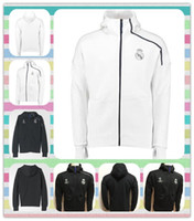 Wholesale New Champions Real Madrid zne Hoody Sweatshirt Men Hoodies Fashion Zipper Sportsware Tracksuit Black White Tracksuits hooded jacket