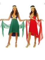 Wholesale Women S Goddess Costume - Halloween carnival Party costume Adult role playing Sexy condole wear goddess dress Cosplay clothing