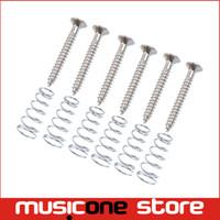 Wholesale Guitar Pickups Single Coil - 6 Pcs Silver Guitar Humbucker Single Coil Pickups mount Height Screws springs
