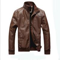 Wholesale Horizontal Zipper Slim Washing Pu - Zmari 2016 New Style Men's Horizontal zipper Slim washing PU Leather Leather motorcycle Jackets Coat Outerwear
