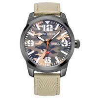 Wholesale Camouflage Watch Strap - New waterproof Quartz Men 's Watch Sports Cool Cool Camouflage Wind Drive Nylon Strap Five Colors Available
