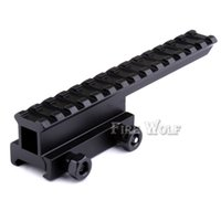 Wholesale long picatinny rail - Hunting High Scope Mount Scope Mount Base Flattop Riser Extended long for 20mm picatinny Weaver Rail