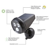 Wholesale Outdoor Wireless Solar Powered Motion Sensor Detection LED Landscape Security Light Weatherproof Spotlight Wall Floodlight Lamp