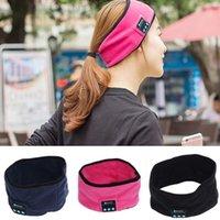 kafa bandı kulaklık seti mikrofonu toptan satış-Akıllı Bluetooth spor yoga bandı Şapka Kablosuz Kulaklık Kulaklık eller serbest Hoparlör Mic 2017 yeni erkekler kadın şapka