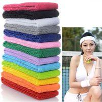 Wholesale Mens Head Bands - Hot Sale Sports Yoga Gym Stretch Headband Head Band Hair Band Sweat Sweatband Mens Women