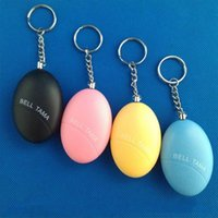 Wholesale Pillar Plate - Egg Shape Self Defense Alarm Girl Women Anti-Attack Anti-Rape Security Protect Alert Personal Safety Scream Loud Keychain Alarm