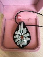 personalisierte glasanhänger halskette großhandel-Schöne Glasblumen Anhänger Retro Pullover Halskette senden Mädchen spezielle Geschenk personalisierte benutzerdefinierte Glas Handwerk