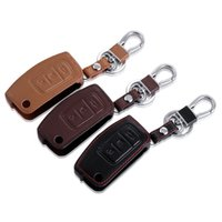 Wholesale Ford Focus Key Chains - High quality! leather key chain ring cover case holder For Ford Focus 2 MK2