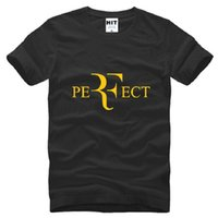 Wholesale Perfect T Shirts - New Roger Federer RF Tennis T Shirts Men Cotton Short Sleeve Perfect Printed Mens T-Shirt Fashion Male Sport Onersized Tees