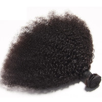 Wholesale afro curly weave human hair for sale - Group buy Brazilian Virgin Human Hair Afro Kinky Curly Unprocessed Remy Hair Weaves Double Wefts g Bundle bundle Can be Dyed Bleached Fedex